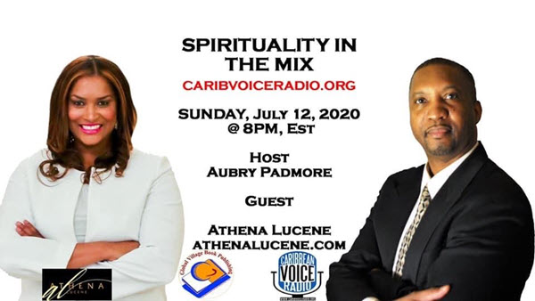 spirituality in the mix banner featuring athena lucene