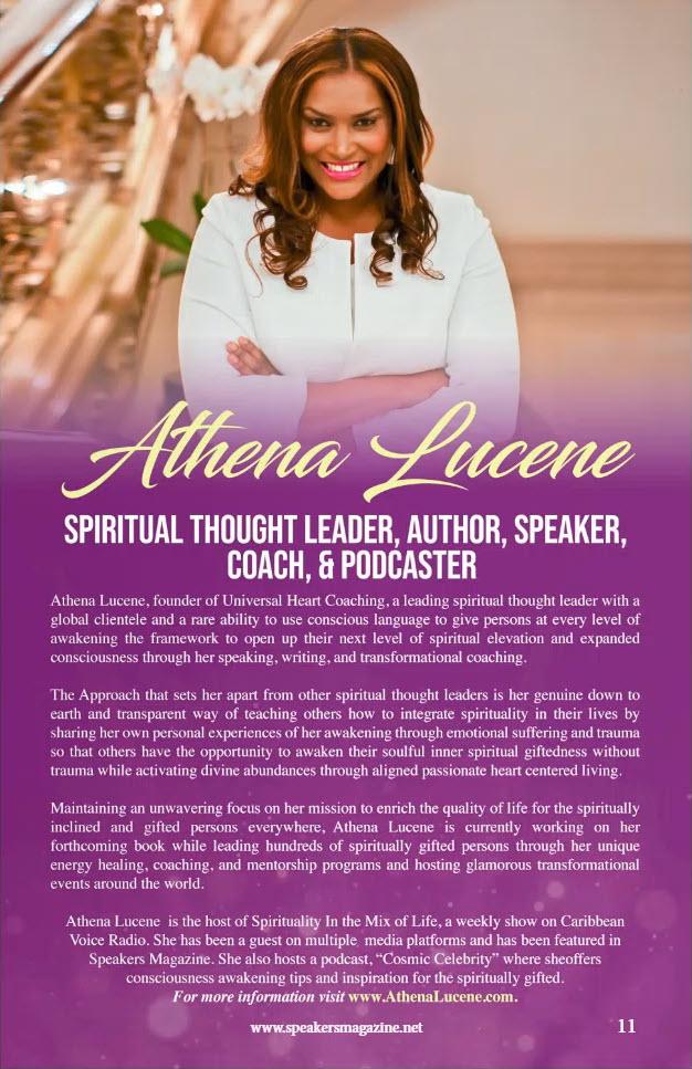 speakers magazine featuring athena lucene